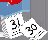 ダウンタイムの日数イメージ